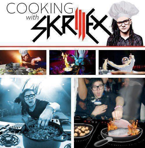 cocinando con skrillex cacerola hervir divertido chef