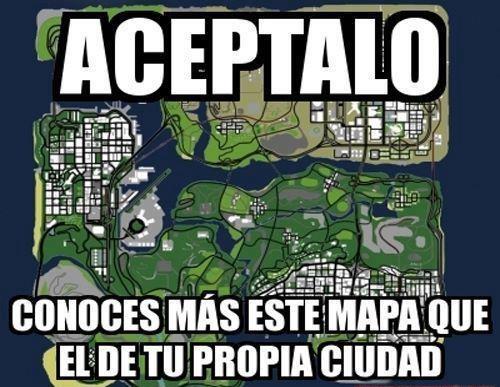 aceptalo conoces mejor este mapa que el de tu propia ciudad grand theft auto gta videojuego