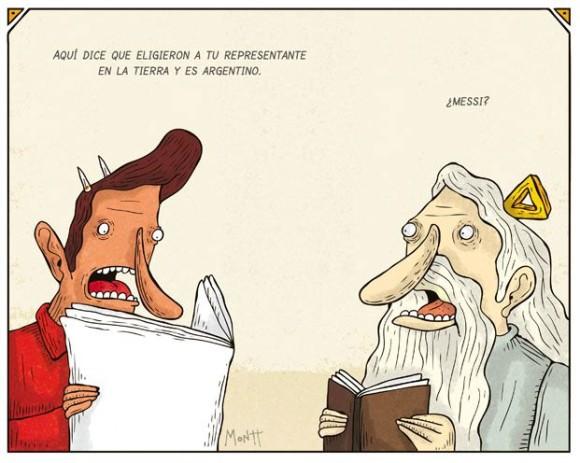aqui dice que eligieron a tu representante en la tierra y es argentino messi el diablo y dios nuevo papa