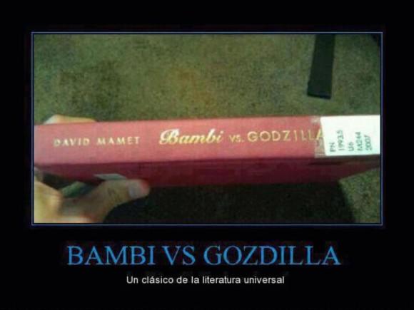 bambi vs godzilla un clasico de la literatura david mamet