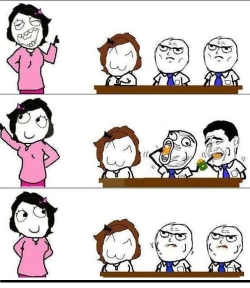 comer en el salon mientras el maestro profesora no ve voltea
