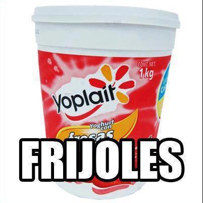 lata vaso de yogurt yoplait ya hay frijoles mamas comida