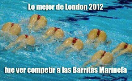 lo mejor de london 2012 olimpiadas fue ver a las barritas marinela de fresa