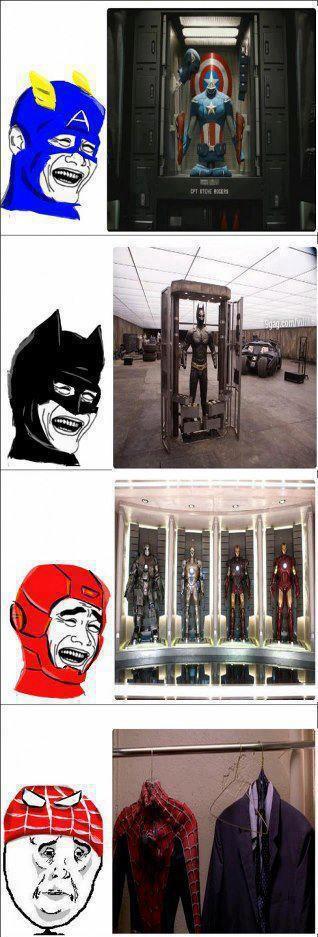 los trajes de los super heroes capitan america batman iron man spiderman okay