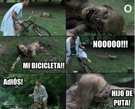 mi bicicleta rick the walking dead