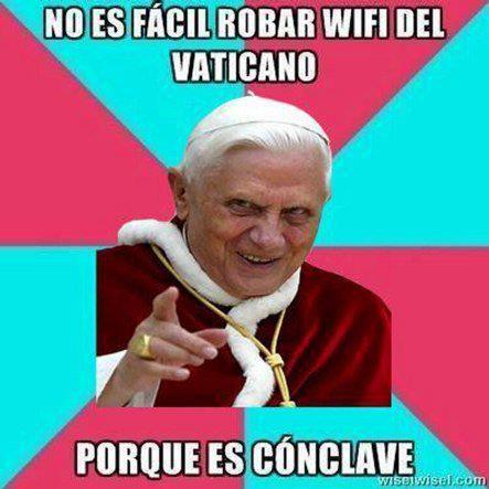 no es facil robar wifi del vaticano por que es conclave ba dum tss chiste del nuevo papa argentino