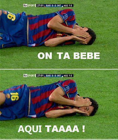 on ta bebe aqui ta esta barcelona fotos chistosas de futbol deportes