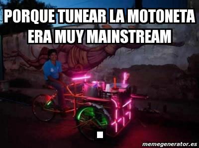 por que tunear la motoneta era muy mainstream triciclo con luces