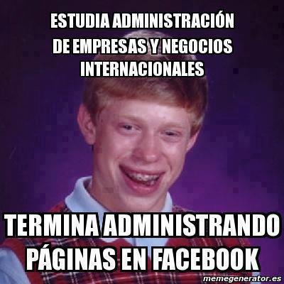 estudia administracion de empresas termina administrando paginas en facebook