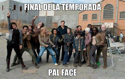 final de la temporada pal face the walking dead