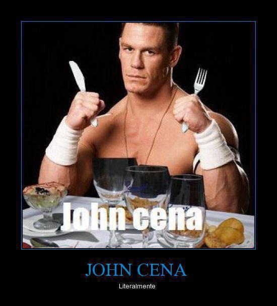 john cena cenando comiendo literalmente imagen chistosa