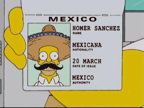 la identificacion de mexicano de homero simpson sanchez
