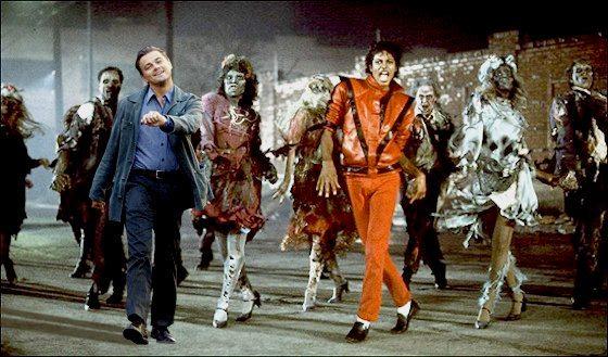 leonardo dicaprimo meme bailando moonwalk triller con michael jackson