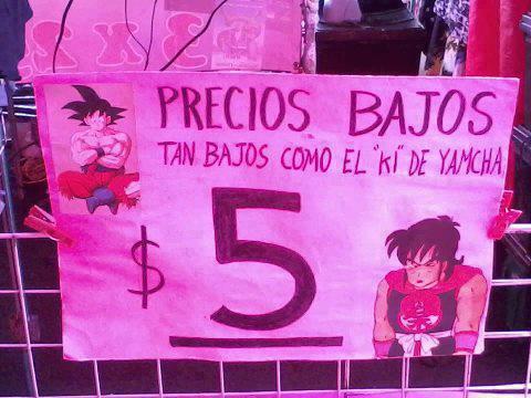 precios bajos tan bajos como el ki de yamcha goku dragon ball