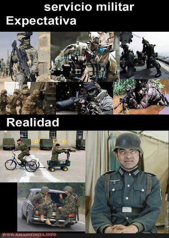 servicio militar expectativa y realidad mr bean