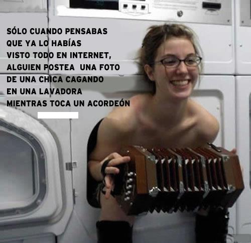 solo cuando pensabas que ya habias visto todo en internet chica en lavadora con acordeon