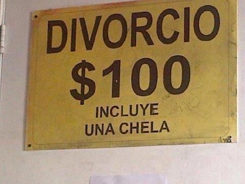 divorcio 100 incluye una chela cerveza
