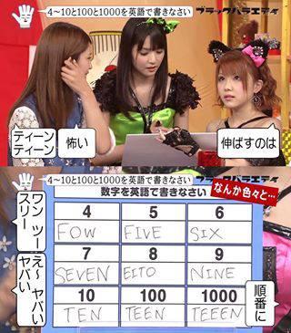 numeros en ingles segun chicas japonesas
