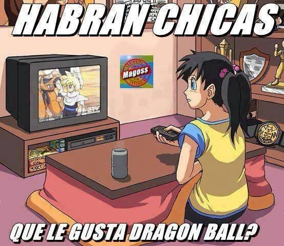habran chicas que les gusta dragon ball goku anime otaku mujeres